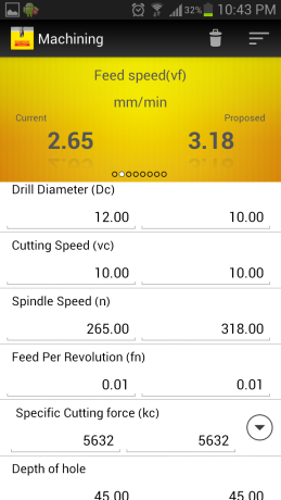 Drill calculator